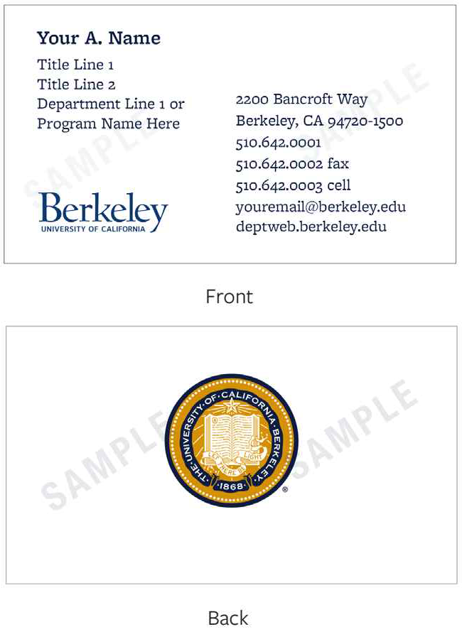 Ordering Business Cards | Library Administrative Services